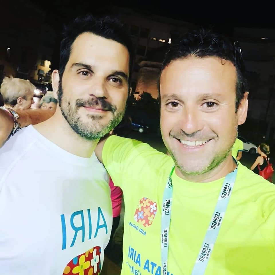 Il socio Airi Claudio Pagliarello e Bruno Buzzi, uno degli organizzatori della camminata.